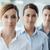 cabeça · ombros · sorridente · feminino · executivo · sorrir - foto stock © stokkete