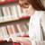 小さな · 学生 · 読む · ライブラリ · 女性 · 作業 - ストックフォト © stokkete