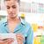 品質 · 若い女性 · デジタル · タブレット · スタイラス · スーパーマーケット - ストックフォト © stokkete