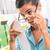 drága · élelmiszer · nő · szemüveg · hosszú · nyugta - stock fotó © stokkete