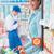 épicerie · Shopping · magasin · heureux · jeune · femme · poussant - photo stock © stokkete