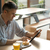 ビジネスマン · 読む · バー · ガラス · カクテル · 座って - ストックフォト © stokkete