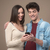 cheerful young couple with mobile phone stock photo © stokkete