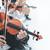 hegedű · zenekar · előad · színpad · sötét · művész - stock fotó © stokkete