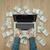 laden · cash · laptop · geld · winnend · rijkdom - stockfoto © stokkete