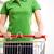 vrouw · winkelwagen · jonge · vrouw · supermarkt · handen - stockfoto © stokkete