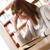 女性 · 学生 · 頭痛 · 女性 · 作業 · 読む - ストックフォト © stokkete