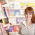 улыбаясь · молодые · библиотека · портрет · студент - Сток-фото © stokkete