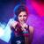 młodych · pop · star · piękna · dziewczyna · śpiewu - zdjęcia stock © stokkete