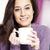sevimli · genç · bayan · fincan · kahve · portre - stok fotoğraf © stokkete