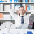 stérile · employé · de · bureau · ordinateur · travaux · téléphone · affaires - photo stock © stokkete