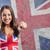 kız · İngiliz · bayrağı · İngilizler · sendika · bayrak - stok fotoğraf © stokkete