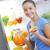 nő · narancslé · boldog · szemek · sport · test - stock fotó © stokkete
