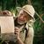 alegre · explorador · assinar · floresta - foto stock © stokkete