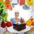 słodkie · pokusa · młoda · kobieta · diety · wygląd · ciasto - zdjęcia stock © stokkete