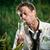 zakenman · verlichting · sigaret · bankbiljet · verloren · jungle - stockfoto © stokkete