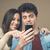 casal · assistindo · algo · sorrir · moda - foto stock © stokkete