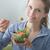 szőke · nő · tál · étel · száj · reggeli · egyensúly - stock fotó © stokkete