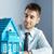 agent · immobilier · modèle · maison · accueillant · bleu · clair · maison - photo stock © stokkete