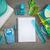 木製 · デスクトップ · 表面 · 文房具 · 白 · シート - ストックフォト © stokkete