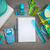 houten · desktop · oppervlak · schrijfbehoeften · witte · vel - stockfoto © stokkete