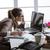 zakenvrouw · laptop · bestanden · telefoon · business · communicatie - stockfoto © stokkete