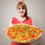 retro · gospodyni · domowa · wegetariański · pizza · młodych - zdjęcia stock © stokkete