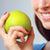 若い女性 · 食べ · リンゴ · 美しい · フルーツ · 美 - ストックフォト © stokkete