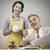 1950 · スタイル · カップル · 朝食 · 美人 - ストックフォト © stokkete