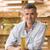 男 · ガラス · ビール · カウンタ · バー · 肖像 - ストックフォト © stokkete