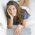 süß · jungen · Dame · Couch · Laptop · hübsche · Frau - stock foto © stokkete