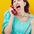 怒っ · 女性 · 悲鳴 · 電話 · ヴィンテージ - ストックフォト © stokkete