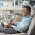 empresário · trabalhando · horas · extras · casa · tarde · laptop - foto stock © stokkete