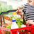 tele · bevásárlókosár · nő · vásárlás · bolt · kenyér - stock fotó © stokkete