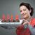 kaars · donut · nieuwe · begin · verjaardag · voedsel - stockfoto © stokkete