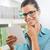 atrakcyjna · kobieta · zakupy · listy · okulary · supermarket - zdjęcia stock © stokkete