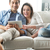 couple watching movie on tablet stock photo © stokkete