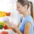 mleka · piękna · kobieta · na · zewnątrz · kobieta · kuchnia - zdjęcia stock © stokkete