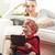 aranyos · fiú · játszik · videojáték · padló · otthon - stock fotó © stokkete
