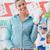 heureux · femme · Shopping · supermarché · poussant - photo stock © stokkete