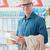 homem · empurrando · supermercado · corredor · mercearia · feliz - foto stock © stokkete