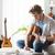 guitariste · musicien · écrit · chanson · guitare · main - photo stock © stokkete