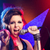 vonzó · nő · sikít · mikrofon · énekel · fekete · nő - stock fotó © stokkete