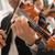 hegedűművész · előad · klasszikus · zenekar · játszik · hangszer - stock fotó © stokkete