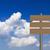 madeira · assinar · grama · blue · sky · céu · fundo - foto stock © stoonn