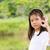 boldog · önkéntes · lány · mosolyog · portré · fiatal - stock fotó © stoonn