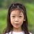 portré · mosolyog · fiatal · női · önkéntes · áll - stock fotó © stoonn