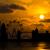dramatic london skyline with sunset stock photo © stoonn