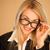 atraente · profissional · mulher · óculos · topo · escritório - foto stock © stryjek