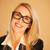 笑みを浮かべて · 成功した · 女性実業家 · 着用 · 眼鏡 · 頭 - ストックフォト © stryjek